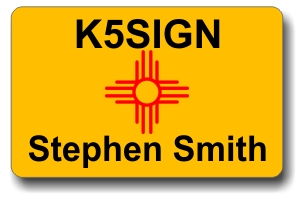 Callsign ID Badge with New Mexico Flag