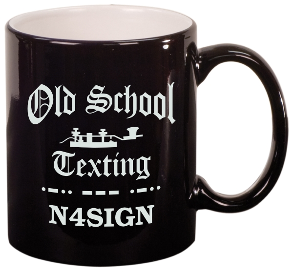 Old School Texting Coffee Mug (Round)