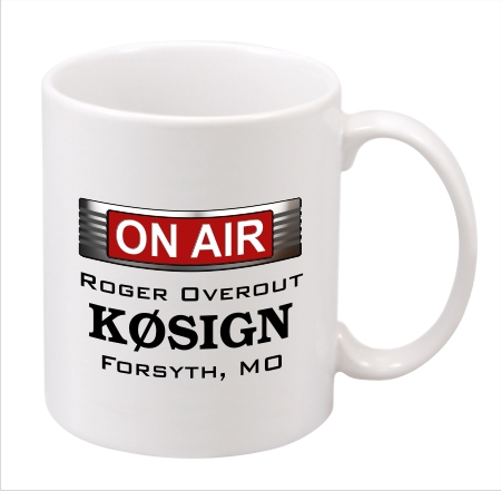 Ham Radio On The Air Callsign Mug - Coffee Mug - 11 oz.