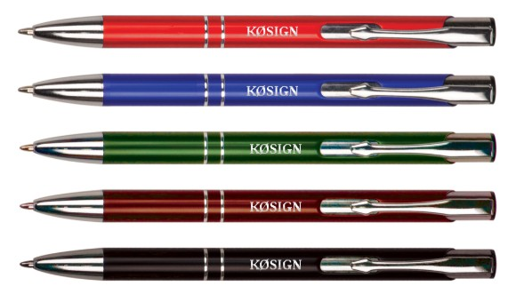 Callsign Pens - Colorful Aluminum with Silver Trim