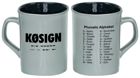 Callsign & Phonetic Alphabet Rounded Square Mug