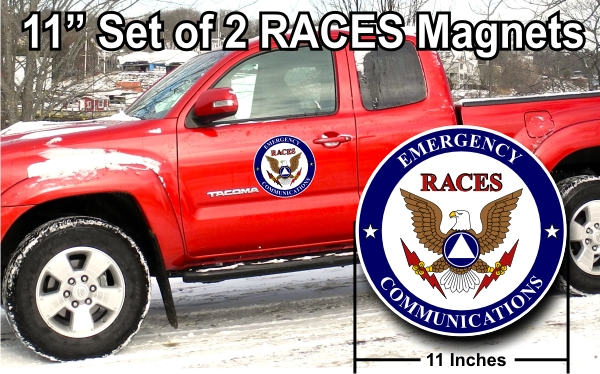 "RACES 11"" Vehicle Magnets - PAIR"