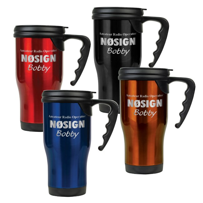 Call Sign & Name Stainless Steel Travel Mug - 16 oz.