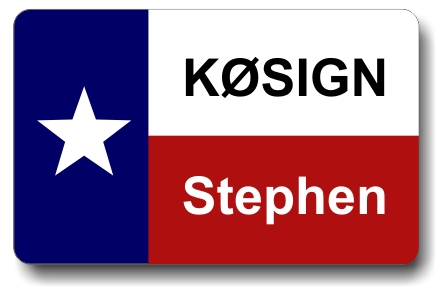 Callsign ID Badge with Texas Flag