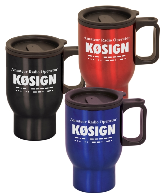 16 oz. Call Sign Stainless Steel Travel Mug
