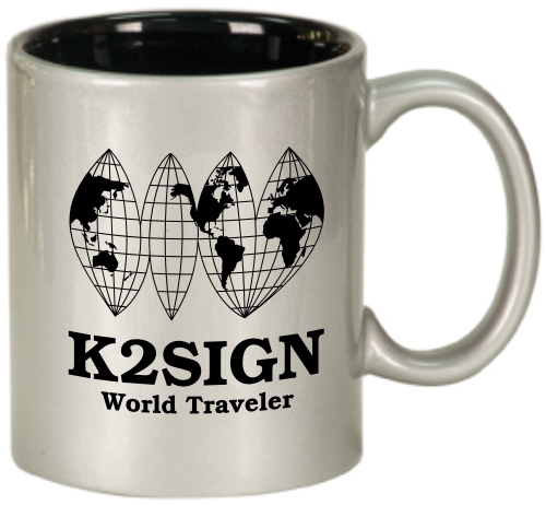 Ham Radio Callsign World Traveler Coffee Mug