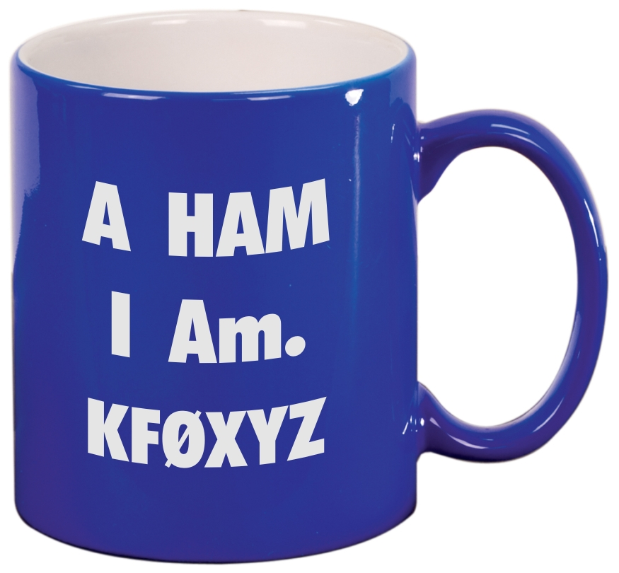 Call Sign Coffee Mug - Ham I Am (Round)
