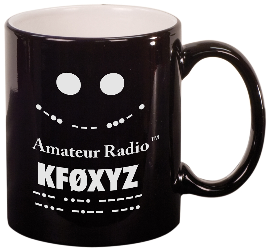 Call Sign Coffee Mug - I Love Amateur Radio (Round)