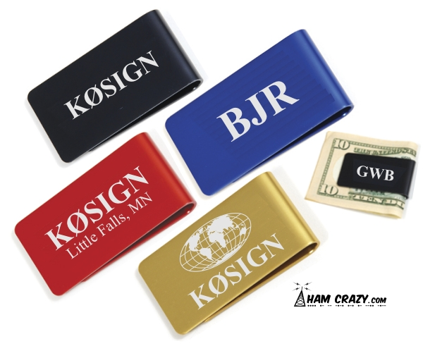 Callsign Money Clip - Annodized