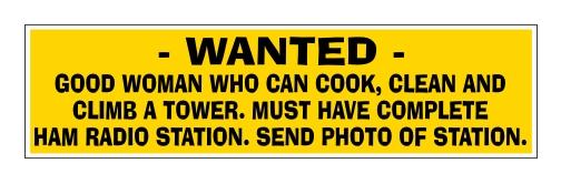 Wanted- Good Woman - Bumper Sticker